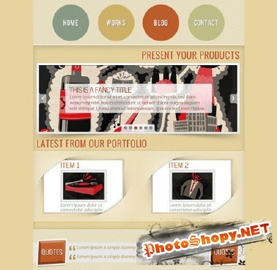 Smokey Grunge Facebook Page Template PSD for Photoshop