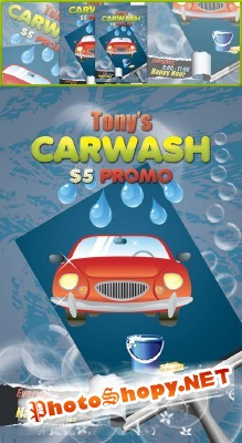 Carwash Flyer Psd