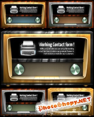 Awesome Vintage Radio Style Image Slider PSD for Photoshop