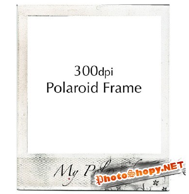 Authentic Vintage Polaroid Frame PSD for Photoshop