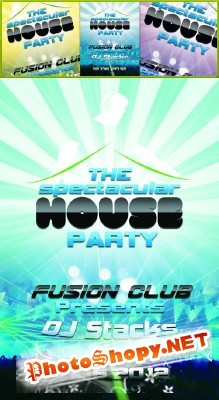 House Party Flyer Psd for Photoshop