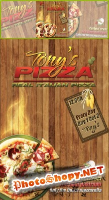 Pizza Restaurant Flyer Psd for Photoshop