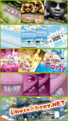 Collection Party Flyer Template 2012 PSD Pack 6 for Photoshop