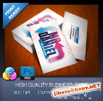 Developer Business Card for Photoshop