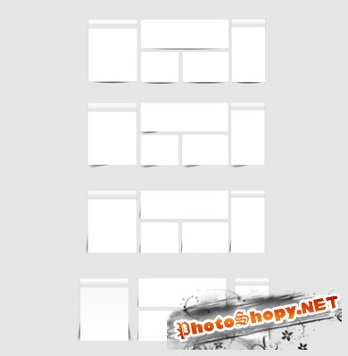 Modern Web Shadow Boxes Set PSD for Photoshop