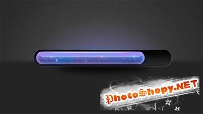 Glowing Blue Loading Progress Bar PSD for Photoshop