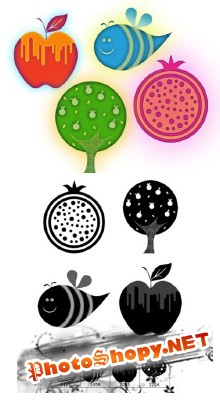 Apples and Honey Brushes Set for Photoshop