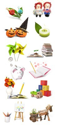 Source - Children Toys for Photoshop