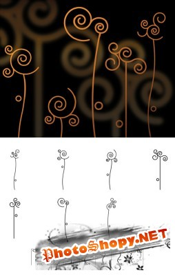 Abstract Flowers Brushes Set for Photoshop
