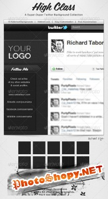 Modern Twitter Background Collection