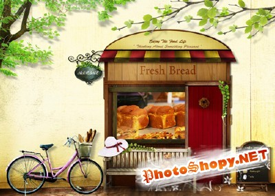 Fresh Bread psd for Photoshop