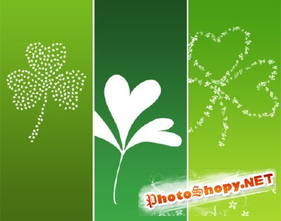 Three Leaf Clover Brushes Set for Photoshop
