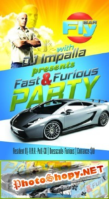 Fast & Furious Party Flyer Psd for Photoshop