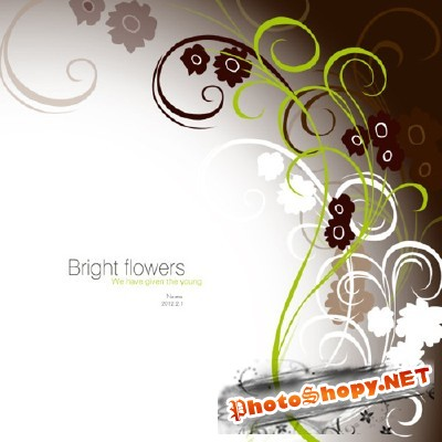 Bright Flowers Psd for Photoshop