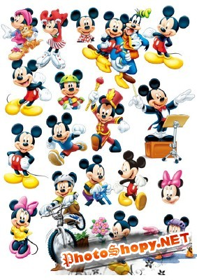 The collection of Mickey Mouse Psd for Photoshop