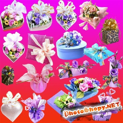Flowers and Gifts Pack psd for Photoshop