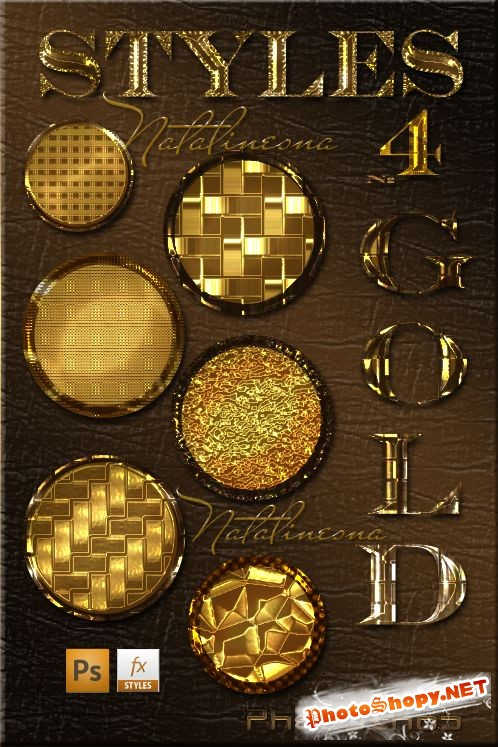 �������  ����� �����  ��� Photoshop 4 / Gold bright styles for Photoshop 4