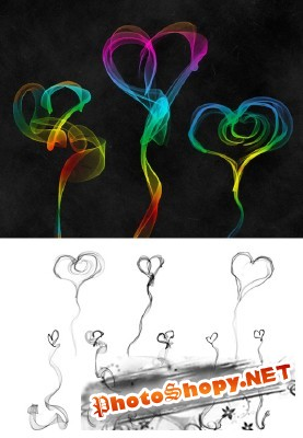 Helium Hearts Brushes Set for Photoshop