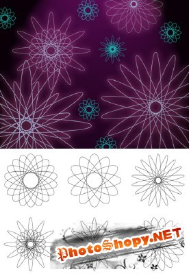 Spiro Flowers 1 Brushes Set for Photoshop