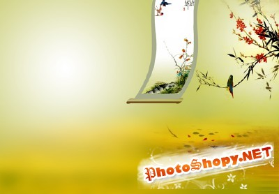 The Japanese motif psd for Photoshop