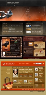 Red Web 4 Template pack for Photoshop