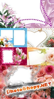 Collection of Spring Photo frames  pack 1 for Photoshop