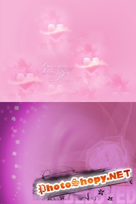 Delicate pink backgrounds psd for Photoshop