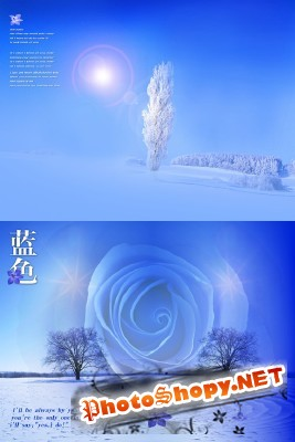 Mysterious winter backgrounds for Photoshop