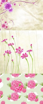Beautiful floral backgrounds psd for Photoshop
