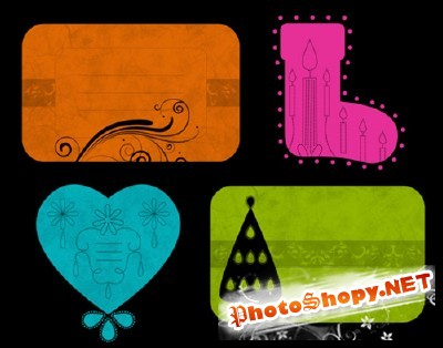 Holiday Tags Lite Brushes Set for Photoshop