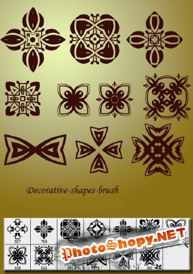 Decorative shapes brushes for Photoshop