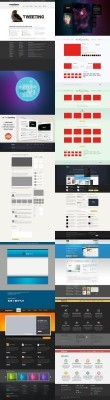 Web Design Gallery Psd Collection Template Pack for Photoshop
