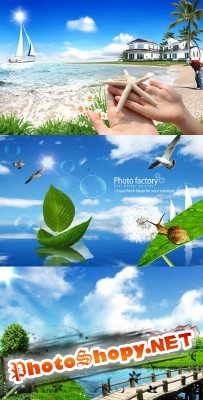 A wonderful summer warm weather psd for Photoshop