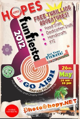 FunFiesta Flyer Psd Template for Photoshop
