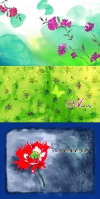 Flowers Backgrounds Psd for Photoshop