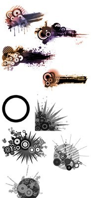 Mixed Collage Brushes Set for Photoshop