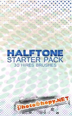 Halftone Brushes Starter Pack for Photoshop