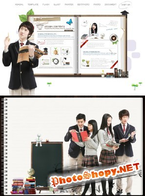 Smart students Psd for Photoshop