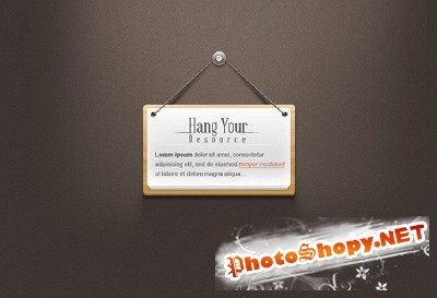 Hanging Note Psd for Photoshop