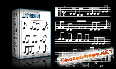 Musical Notes Set for Photoshop