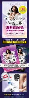 Party Flyer Template - White Spring