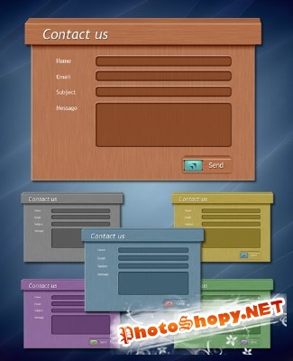 Website Form Background Skyoffice psd for Photoshop