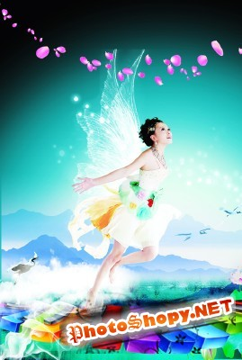 The magic sound of music psd for Photoshop