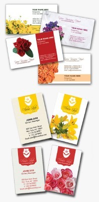 Florist Business Cards psd for Photoshop