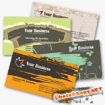 Personal Business Cards Part 3 psd for Photoshop