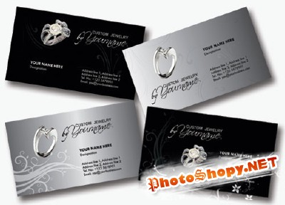 Jewelry Business Cards Psd for Photoshop