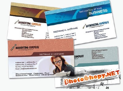 Financial Business Cards Psd for Photoshop