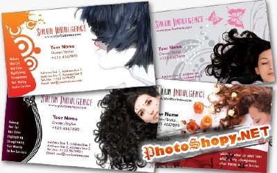 Salon Business Cards Psd for Photoshop