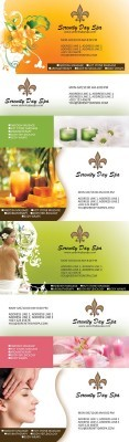 Massage Business Cards Psd for Photoshop