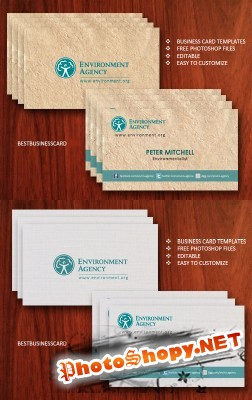 Eco Business Cards Psd for Photoshop
